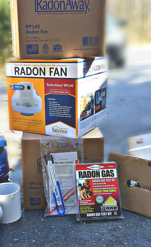 Radon Fan Radon Test Kit