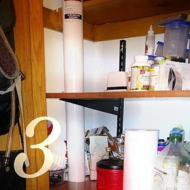 radon mitigation system in closet