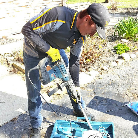 Certified Radon Specialist using professional radon removal equipment