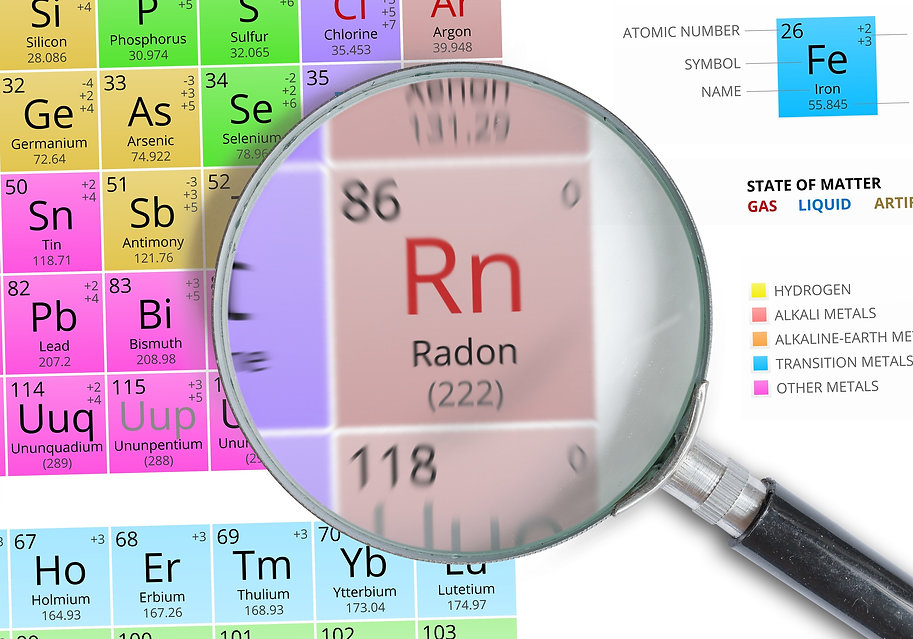 Chemical 86 RN Radon gas on the periodic table