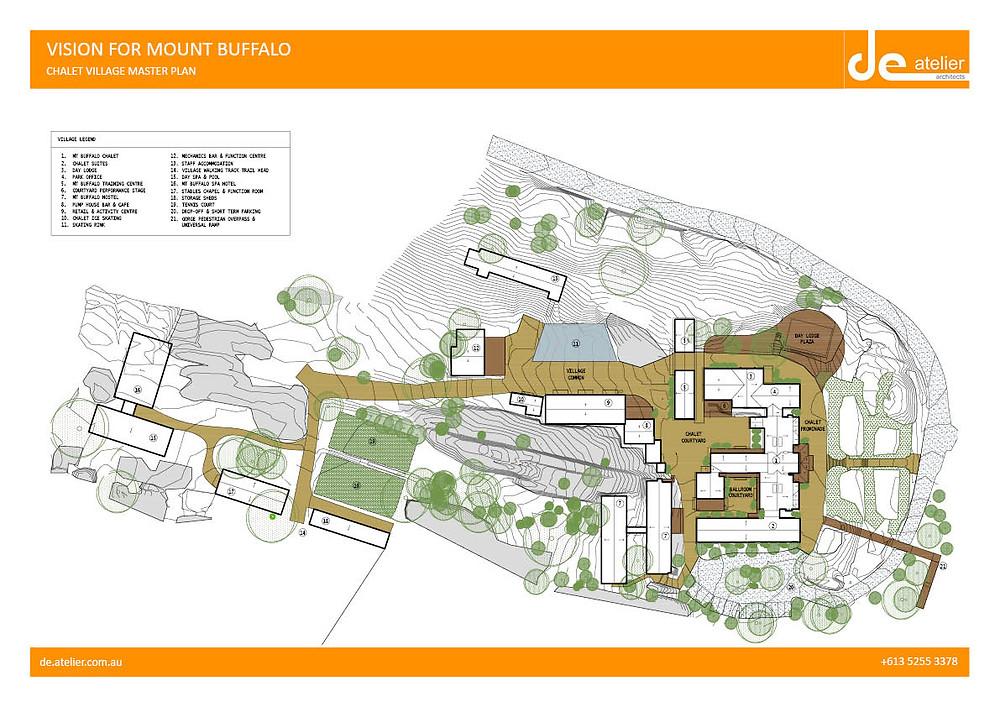 Mount Buffalo Village Plan by DE atelier Architects