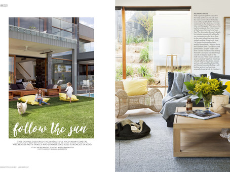 Follow the Sun - DE atelier in Home Beautiful Magazine.