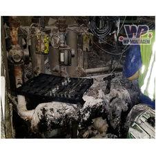 ANTES - Troca de tubulação e isolamento térmico