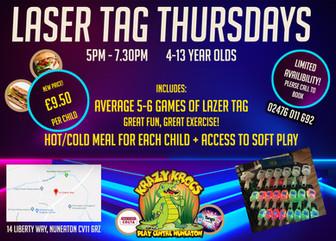 Laser Tag Thursdays