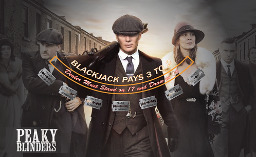 Peaky Blinders Blackjack Layout