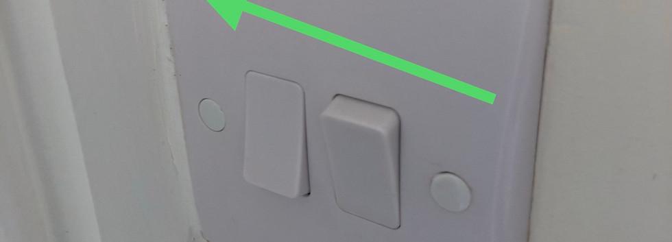 light switch poor finish