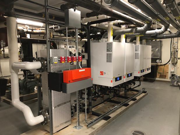 Commercial boiler installation - Viessma