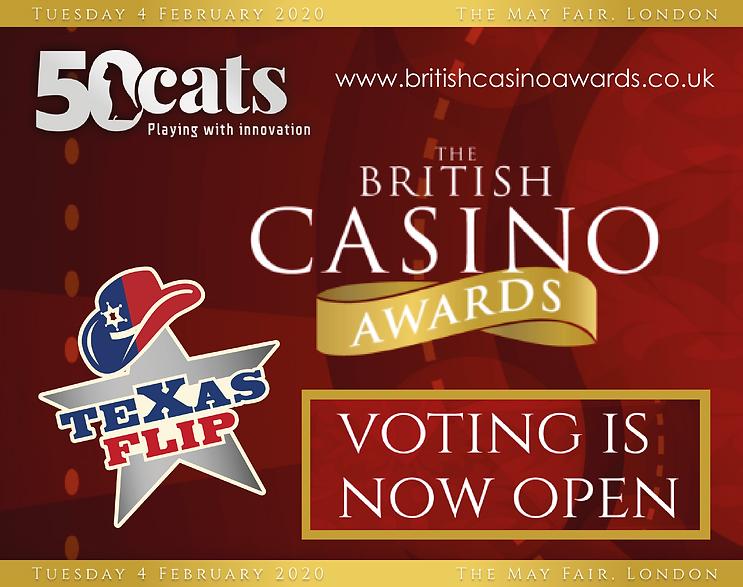 British Casino Awards 2020 50 Cats - tex