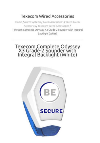 Texecom Wired Accessories