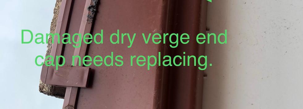 Dry verge damage