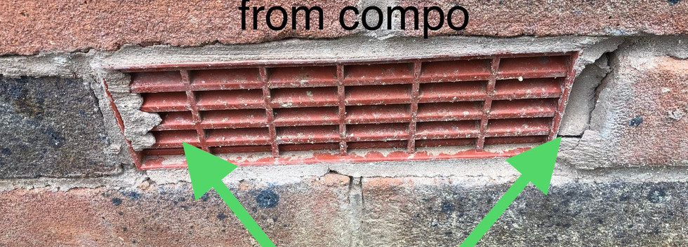 Re-pointing of brick vents