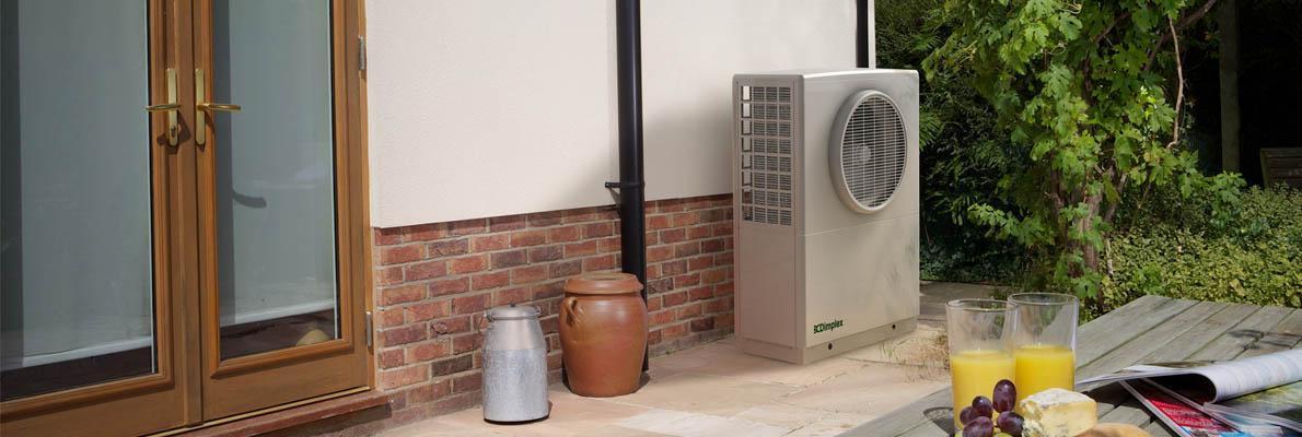 air pump header Air Surce pump installat