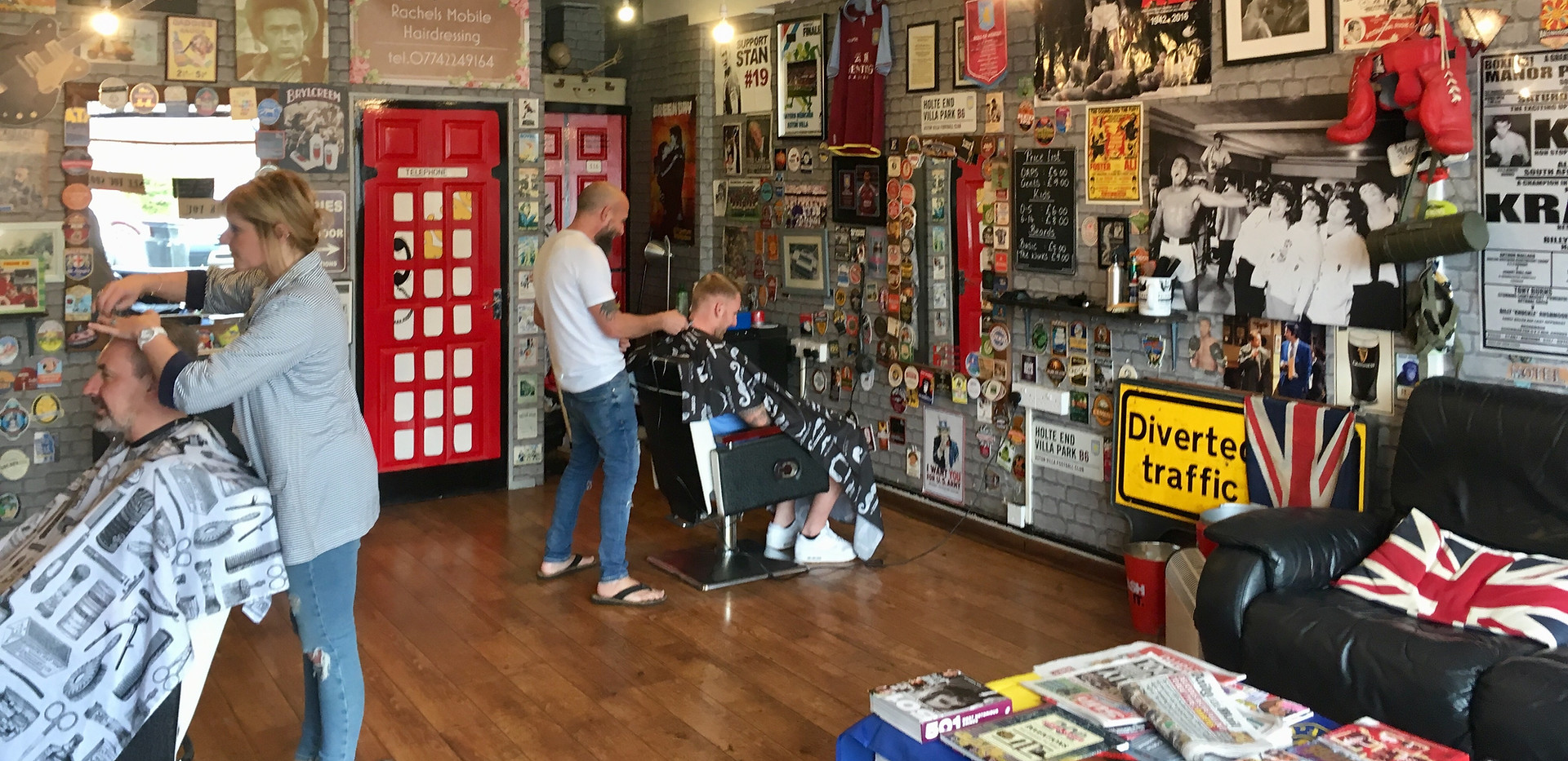 Inside Franky The Barbers Whitestone, Nuneaton