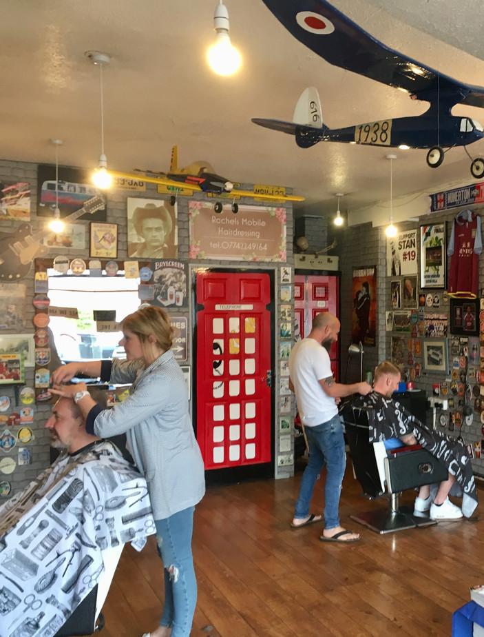 Inside Franky The Barbers Whitestone, Nuneaton