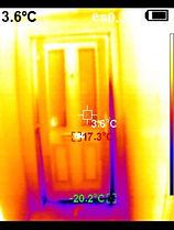 Thermal Image of doorway hall