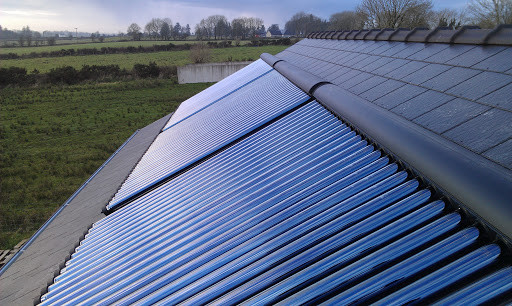 The Eco Option Solar Thermal Roof Instal