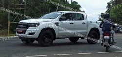 Ford Ranger spied testing in India