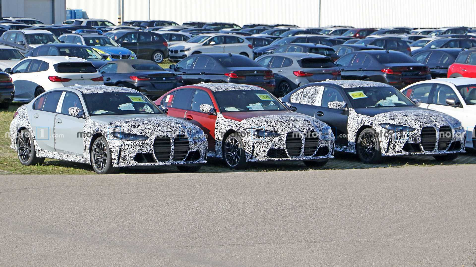 BMW M3 spied with minimal camouflage