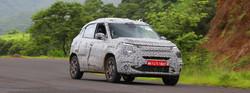 TATA's micro-SUV spied testing