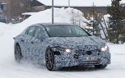 Mercedes-Benz EQS sedan on test
