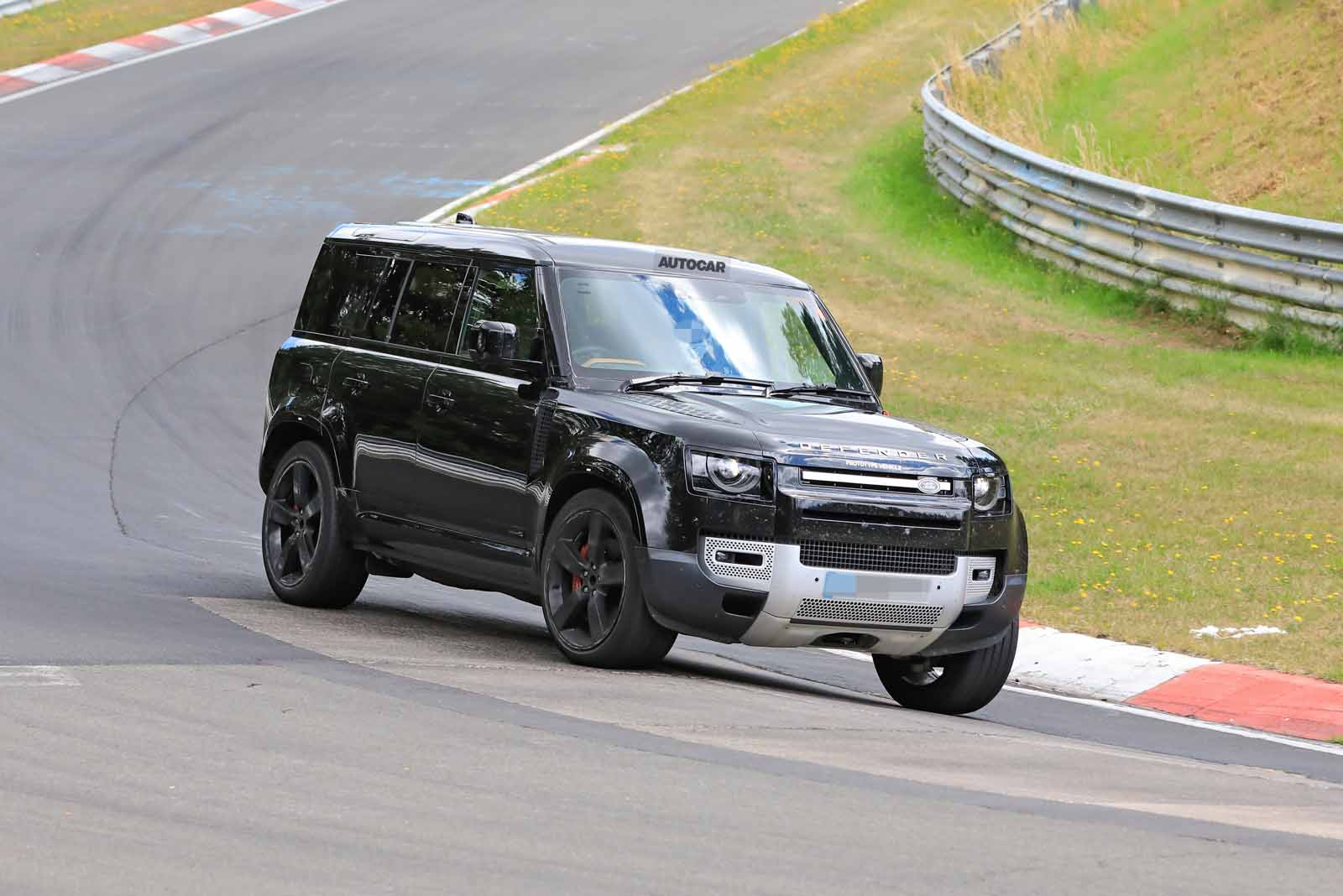 Land Rover Defender V8 on test at Nurburgring