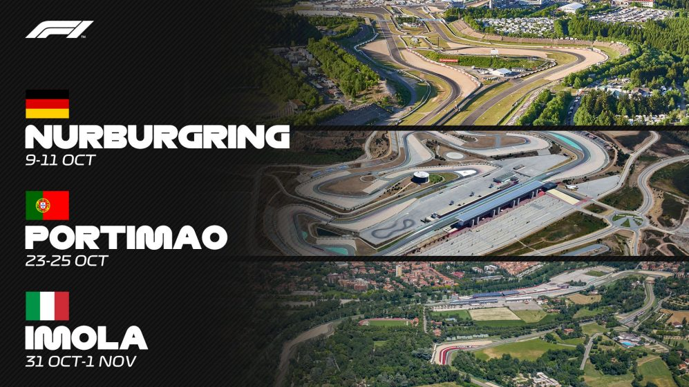 Formula 1 returns to Imola, Portimao, Nurburgring