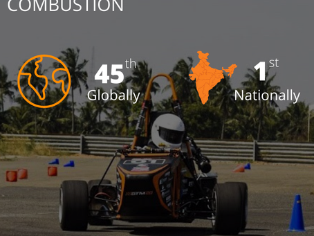 GTU Motorsports rank 45th Globally in Formula Student ranking: only Indian team in top 50