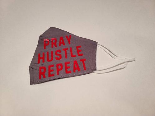 Pray Hustle Repeat Mask
