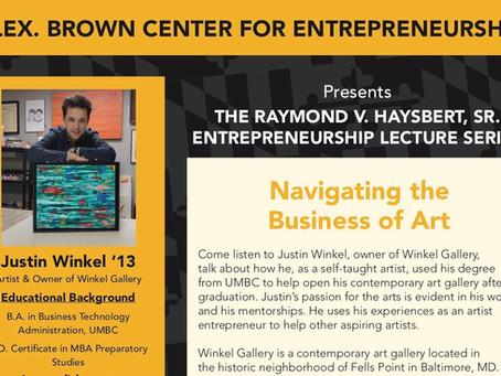 UMBC- Entrepreneur Lecture Series