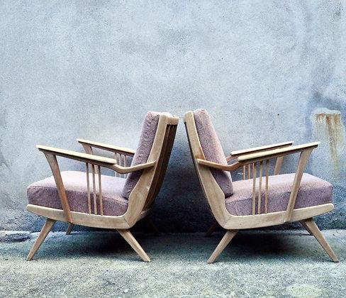 Lot de 2 fauteuils des années 50