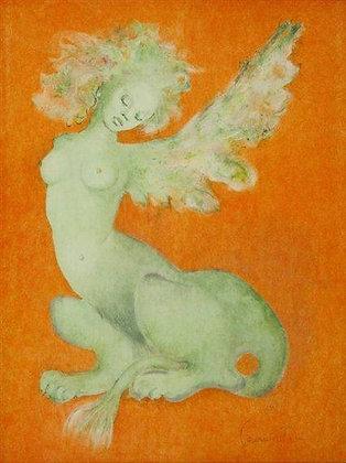 """Lithographie de Léonor """"Sphinx"""" signée"""