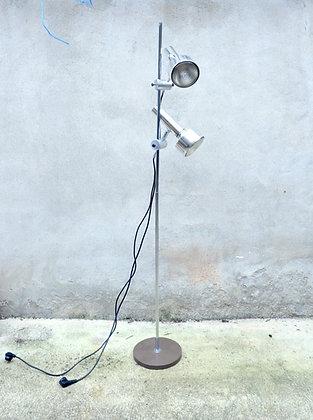 Lampe moderniste en métal chromé avec 2 spots