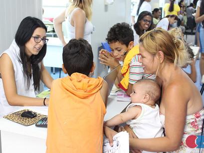 Mutirão de pesagem do CREN atende 395 crianças na zona leste