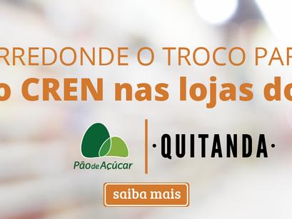 CREN recebe doações do Pão de Açúcar e Quitanda pelo Arredondar