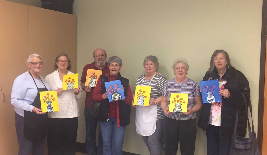 Senior painting party, Cruisin' Canvas, traveling painting party