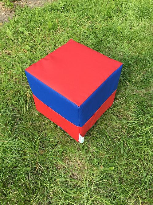 Multi-Coloured Cube- Half Red/ Half Blue