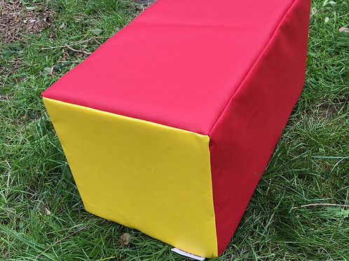 Soft Play Long Cuboid- Red/Yellow