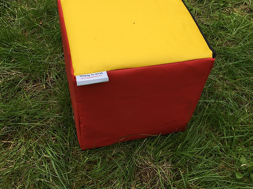 Multi-Coloured Soft Play Cube- Red/Yellow