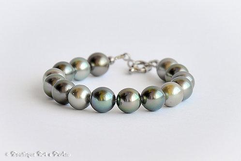 Pulsera con 15 perlas
