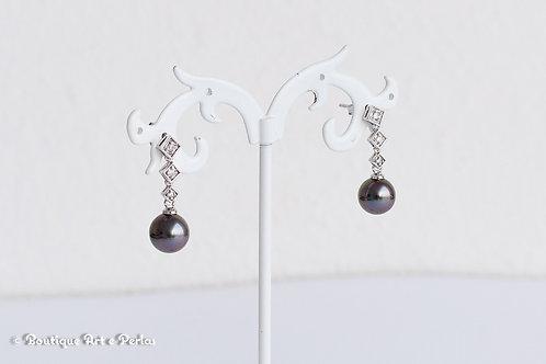 Pendientes con perlas y circonita