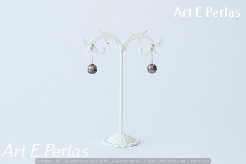 Pendientes con perlas estriadas