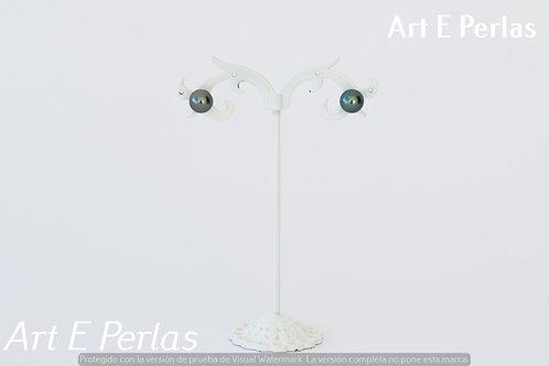 Pendientes con perlas verde/azul