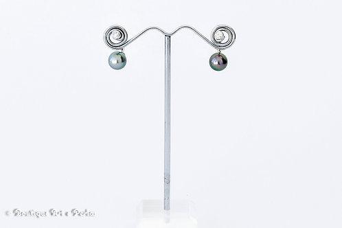 Piercings de ombligo con perla y circonita
