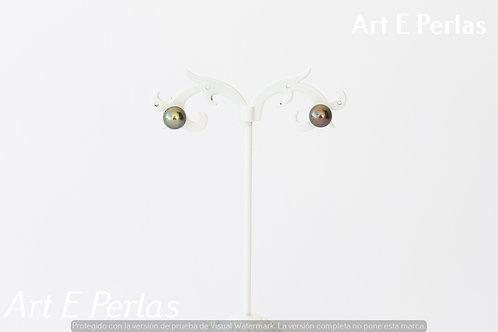 Pendientes con perlas grises