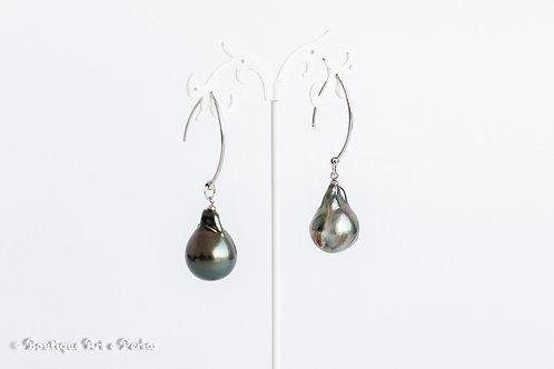 Pendientes con perlas barrocas grandes