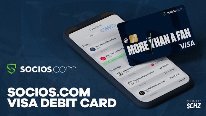 Railsbank powers Socios.com Visa Debit Card