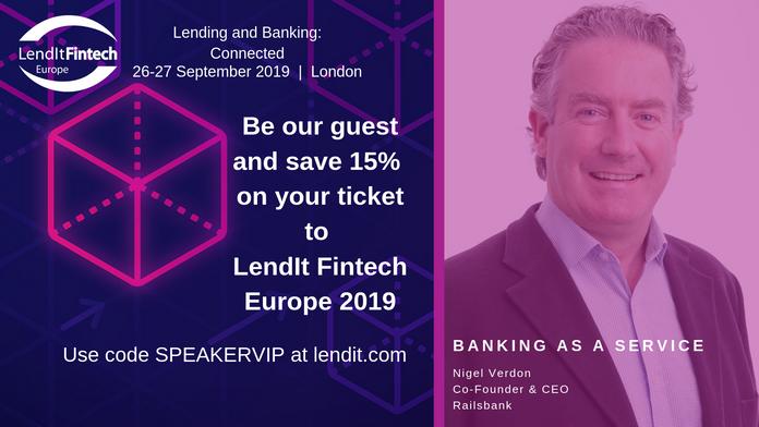 Nigel Verdon to speak at Lendit Fintech Europe 2019