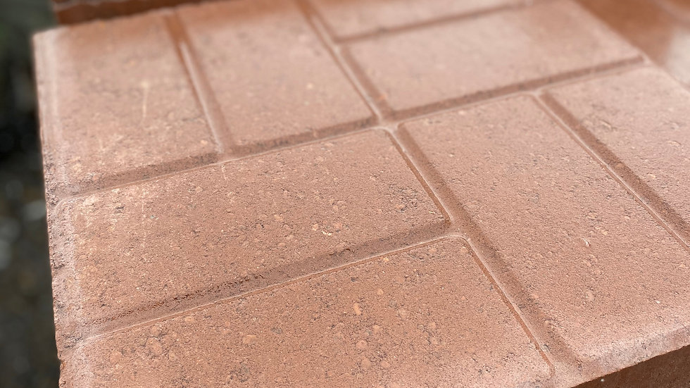 "16"" Sq. Brick Face Red"