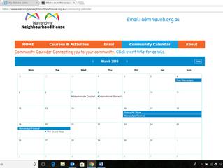 New Community Calendar