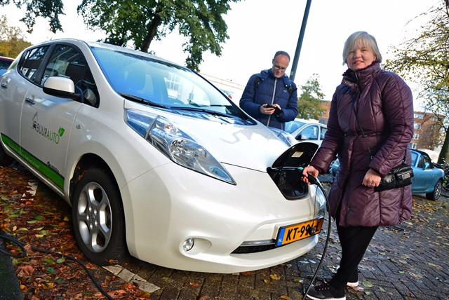 Een elektrische auto delen met je buren